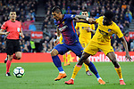 League Santander 2017/2018. Game: 28.<br /> FC Barcelona vs At. Madrid: 1-0.<br /> Paulinho vs Thomas.