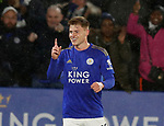 Harvey Barnes of Leicester City celebrates scoring the fourth goal during the Premier League match at the King Power Stadium, Leicester. Picture date: 9th March 2020. Picture credit should read: Darren Staples/Sportimage
