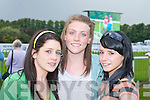 Killarney girls enjoying themselves at the Killarney races on Monday were l-r Christine Tagney, Aoife OConnor and Jessica Murphy.