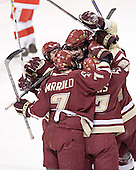 Brock Bradford, Peter Harrold, Brian Boyle, Tim Filangieri, Chris CollinsThe Boston College Eagles defeated the Boston University Terriers 5-0 on Saturday, March 25, 2006, in the Northeast Regional Final at the DCU Center in Worcester, MA.