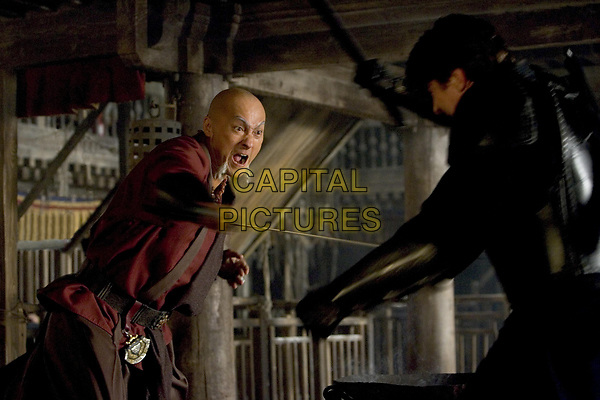 Batman Begins (2005)<br /> Christian Bale &amp; Ken Watanabe<br /> *Filmstill - Editorial Use Only*<br /> CAP/KFS<br /> Image supplied by Capital Pictures