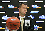 SIOUX FALLS, SD: MARCH 2: Sioux Falls Sports Authority Executive Director Bryan Miller addresses the media during a press conference prior to the 2017 Summit League Basketball Championship Thursday at the Denny Sanford Premier Center in Sioux Falls, SD. (Photo by Dave Eggen/Inertia)
