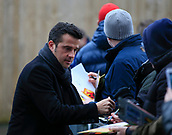 9th December 2017, Turf Moor, Burnley, England; EPL Premier League football, Burnley versus Watford; Watford manager Marco Silva signs autographs for the fans on arrival at the stadium
