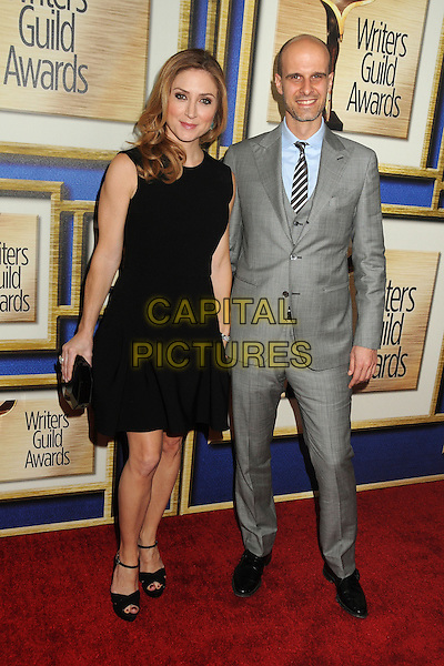 1 February 2014 - Los Angeles, California - Sasha Alexander, Edoardo Ponti. 2014 Writers Guild Awards West Coast held at the JW Marriott Hotel.  <br /> CAP/ADM/BP<br /> &copy;Byron Purvis/AdMedia/Capital Pictures