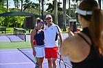 WESTON, FL - DECEMBER 08: Ninoska Malik and  Sajid Malik playing at Midtown Athletic Club Weston on December 08, 2018 in Weston, Florida. ( Photo by Johnny Louis / jlnphotography.com )