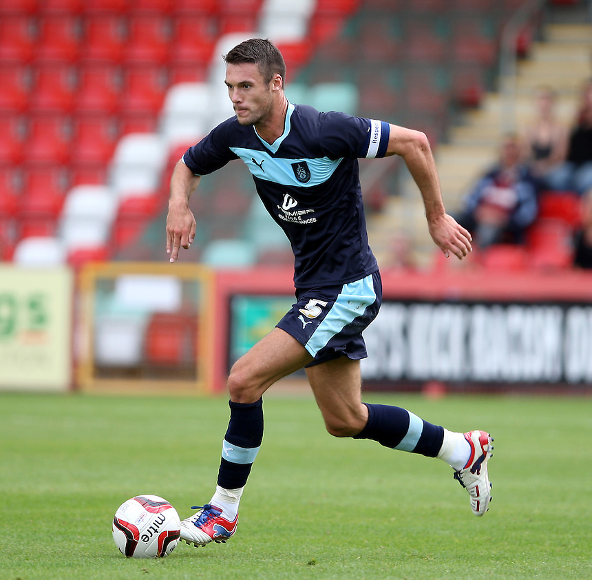 Burnley's Jason Shackell..Football Friendly - Cheltenham Town v Burnley - Saturday 4th August 2012 - Abbey Business Stadium - Cheltenham..