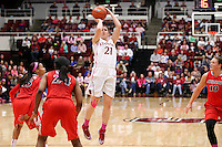 STANFORD, CA - February 16, 2014: Stanford Cardinal's Sara James during Stanford's 74-48 victory over Arizona at Maples Pavilion.