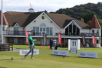 Mark Power from Ireland on the 11th tee during Round 2 Singles of the Men's Home Internationals 2018 at Conwy Golf Club, Conwy, Wales on Thursday 13th September 2018.<br /> Picture: Thos Caffrey / Golffile<br /> <br /> All photo usage must carry mandatory copyright credit (&copy; Golffile | Thos Caffrey)