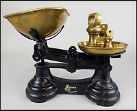 BNPS.co.uk (01202 558833)<br /> Pic: Golding,Young&amp;Mawer/BNPS<br /> <br /> A set of late 19thC/early 20thC Librasco ebonised cast iron scales.<br /> <br /> A collection of quirky 100-year-old kitchen gadgets designed to make life easier for the Mary Berry of Victorian days have emerged for sale.<br /> <br /> Long before Kenwood Chef and KitchenAid were the must-have items, these unusual tools - which include mincers, chopping devices and a butter churn - were the forerunners.<br /> <br /> Unlike their popular modern counterparts, many of the tools were too expensive for most people to buy and were not highly reliable and so are rarely found today.<br /> <br /> The 25 kitchen items, which date from the late 19th and early 20th century, are being sold by Golding, Young &amp; Mawer auctionhouse and are expected to fetch thousands of pounds.