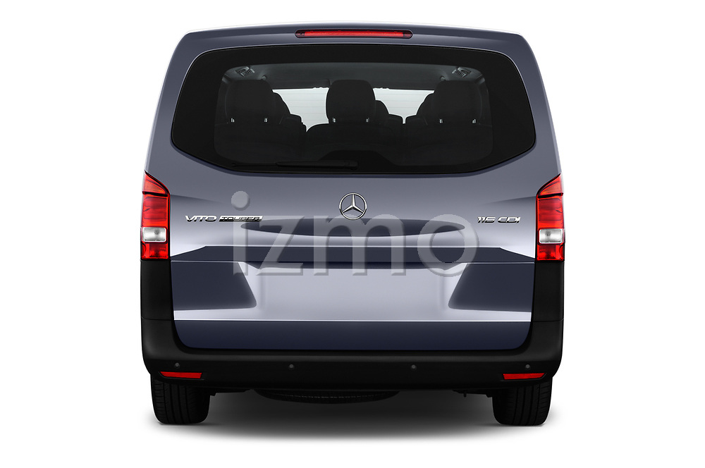 Straight rear view of 2017 Mercedes Benz Vito-Tourer Pro 4 Door Combi Rear View  stock images
