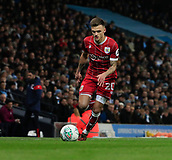9th January 2018, Etihad Stadium, Manchester, England; Carabao Cup football, semi-final, 1st leg, Manchester City versus Bristol City; Jamie Paterson of Bristol City moves down the wing