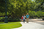 Orientation participant and future nursing student Jazzie Tate and her father Arthur Tate, enjoy walking the beautiful Ole Miss campus   .  Photo by Kevin Bain/Ole Miss Communications
