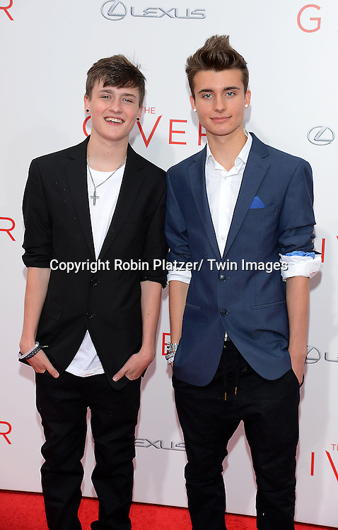 """Crawford Collins and Chris Collins  attends the World Premiere of """" The Giver"""" at The Ziegfeld Theatre in New York City on August 11, 2014."""