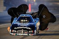 Nov 13, 2010; Pomona, CA, USA; NHRA funny car driver Matt Hagan during qualifying for the Auto Club Finals at Auto Club Raceway at Pomona. Mandatory Credit: Mark J. Rebilas-