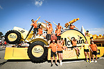 McCain gang from the publicity caravan before the start of Stage 14 of the 2018 Tour de France running 188km from Saint-Paul-Trois-Chateaux to Mende, France. 21st July 2018. <br /> Picture: ASO/Bruno Bade | Cyclefile<br /> All photos usage must carry mandatory copyright credit (&copy; Cyclefile | ASO/Bruno Bade)