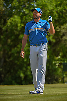 Sergio Garcia (ESP) watches his tee shot on 9 during Round 1 of the Valero Texas Open, AT&amp;T Oaks Course, TPC San Antonio, San Antonio, Texas, USA. 4/19/2018.<br /> Picture: Golffile | Ken Murray<br /> <br /> <br /> All photo usage must carry mandatory copyright credit (&copy; Golffile | Ken Murray)