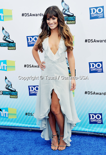 Lea Michele  at the 2012 Do Something Awards at the Barker Hangar in Santa Monica, Los Angeles.