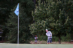 CHAPEL HILL, NC - OCTOBER 07: UNC's Joshua Martin chips onto the 2nd green. The first round of the Tar Heel Intercollegiate Men's Golf Tournament was held on October 7, 2017, at the UNC Finley Golf Course in Chapel Hill, NC.