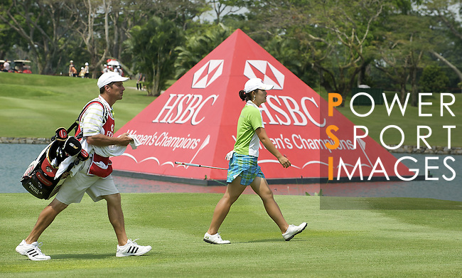 SINGAPORE - MARCH 08:  Angela Park of the USA on the par four 18th hole during the final round of HSBC Women's Champions at the Tanah Merah Country Club on March 8, 2009 in Singapore.  Photo by Victor Fraile / The Power of Sport Images