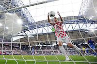 FUSSBALL  EUROPAMEISTERSCHAFT 2012   VORRUNDE Italien - Kroatien                    14.06.2012 Nikica Jelavic (Kroatien) jubelt ueber das Tor zum 1:1