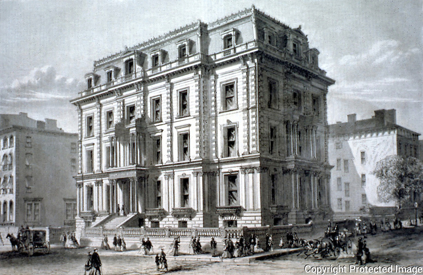 New York:  A. T. Stewart House, 1869.  HARPER'S WEEKLY, Aug. 14, 1869.