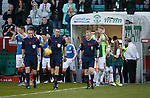 No guard of honour for Rangers at the start of the game