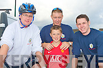 BIKING FIREMEN: Member's of the Castleisland Fire Service taking part in the Charity Cycle in aid of the A&E at KGH at Strand Road on Saturday l-r: Denis McCarthy, Eamon Egan, Darren McCarthy and Daniel Egan.