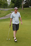 Guiding Light's Michael O'Leary plays golf on Sat. May 22 during We Love Soaps Weekend on  May 21 and May 22 2010 at Villa Roma Resort in Callicoon, New York. (Photo by Sue Coflin/Max Photos)