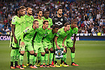 Players of Sporting Portugal pose for photos during their 2016-17 UEFA Champions League match between Real Madrid vs Sporting Portugal at the Santiago Bernabeu Stadium on 14 September 2016 in Madrid, Spain. Photo by Diego Gonzalez Souto / Power Sport Images