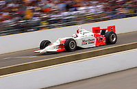 87th Indianapolis 500, Indianapolis Motor Speedway, Speedway, Indiana, USA  25 May,2003  .Gil deFerran speeds along the main straight..World Copyright©F.Peirce Williams 2003 .ref: Digital Image Only..F. Peirce Williams .photography.P.O.Box 455 Eaton, OH 45320.p: 317.358.7326  e: fpwp@mac.com..