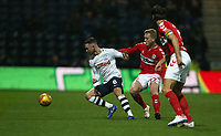 Preston North End's Alan Browne and Middlesbrough's George Saville<br /> <br /> Photographer Stephen White/CameraSport<br /> <br /> The EFL Sky Bet Championship - Preston North End v Middlesbrough - Tuesday 27th November 2018 - Deepdale Stadium - Preston<br /> <br /> World Copyright © 2018 CameraSport. All rights reserved. 43 Linden Ave. Countesthorpe. Leicester. England. LE8 5PG - Tel: +44 (0) 116 277 4147 - admin@camerasport.com - www.camerasport.com