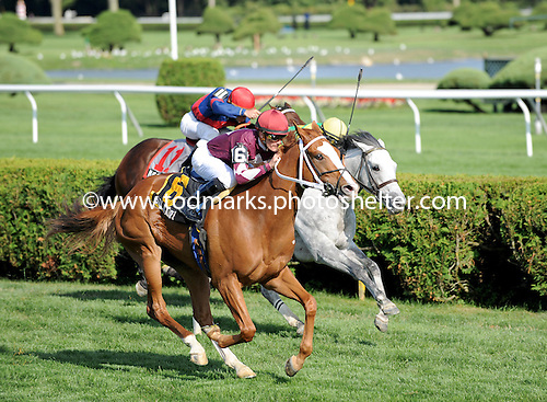 Solitaire wins the John's Call stakes.