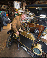 BNPS.co.uk (01202 558833)<br /> Pic: PhilYeomans/BNPS<br /> <br /> Garage that time forgot...<br /> <br /> Business is booming at Neil Tuckets time warp garage in the heart of Buckinghamshire - Where you can by any car&hellip;as long as its a Model T Ford.<br /> <br /> Despite his newest models being nearly 90 years old, Neil struggles to keep up with demand with customers snapping up one a week, despite their rudimentary levels of comfort and trim.<br /> <br /> Neil sources his spares from all over the globe and carefully puts the machines back together again.<br /> <br /> 'There like a giant meccano set really, and so beautifully simple and reliable they just won't let you down...You also don't require road tax or and MOT!'