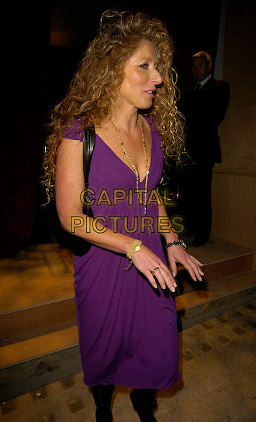 KELLY HOPPEN .The Pepe Jeans New Ambassador party, 17 Berkeley Street, London, UK..October 4th, 2006.Ref: CAN.half length purple dress .www.capitalpictures.com.sales@capitalpictures.com.©Can Nguyen/Capital Pictures