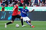 11.05.2019, BayArena, Leverkusen, GER, 1. FBL, Bayer 04 Leverkusen vs. FC Schalke 04 ,<br />  <br /> DFL regulations prohibit any use of photographs as image sequences and/or quasi-video<br /> <br /> im Bild / picture shows: <br /> Philip Fontain (FC Schalke #4), im Zweikampf gegen  Sven Bender (Leverkusen #5), <br /> <br /> Foto &copy; nordphoto / Meuter