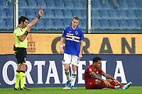Justin Kluivert of AS Roma sent of from the referee Fabio Maresca<br /> Genova 20-10-2019 Stadio Luigi Ferraris <br /> Football Serie A 2019/2020 Sampdoria - AS Roma <br /> Photo Gino Mancini / Insidefoto