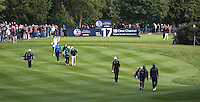 Players including Chris Wood (ENG) heading from the 17th tee during the Final Round of the British Masters 2015 supported by SkySports played on the Marquess Course at Woburn Golf Club, Little Brickhill, Milton Keynes, England.  11/10/2015. Picture: Golffile | David Lloyd<br /> <br /> All photos usage must carry mandatory copyright credit (&copy; Golffile | David Lloyd)