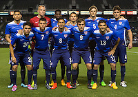 Carson, CA - Wednesday, April 22, 2015: The U.S. Men's U-23s National soccer team take on the Mexican U-23s in an International friendly at StubHub Center.
