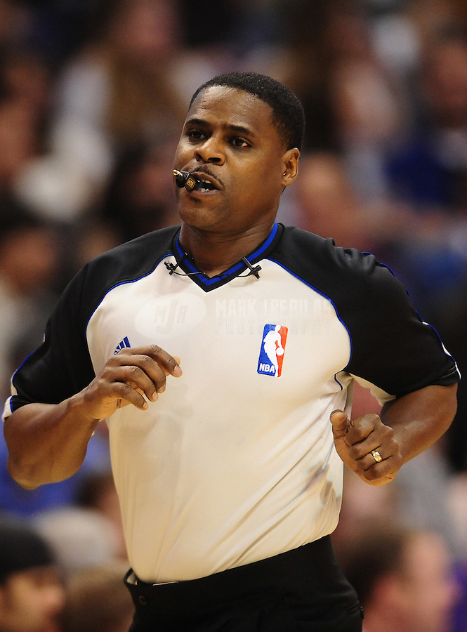 Dec. 8, 2010; Phoenix, AZ, USA; NBA referee Leroy Richardson during the game between the Memphis Grizzlies against the Phoenix Suns at the US Airways Center. Memphis defeated Phoenix 104-98 in overtime. Mandatory Credit: Mark J. Rebilas-