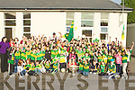MAGUIRE CUP: Hands up by the pupils of Killocrim, Listowel on Wednesday as Tadgh Kennelly brought the cup to their school...