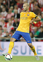 FC Barcelona's Javier Mascherano during Supercup of Spain 1st match.August 14,2015. (ALTERPHOTOS/Acero)