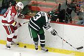 Chris Huxley (Harvard - 28), Adam Estoclet (Dartmouth - 23) - The Harvard University Crimson defeated the Dartmouth College Big Green 4-1 (EN) on Monday, January 18, 2010, at Bright Hockey Center in Cambridge, Massachusetts.