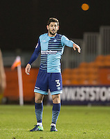 Joe Jacobson of Wycombe Wanderers during the The Checkatrade Trophy match between Blackpool and Wycombe Wanderers at Bloomfield Road, Blackpool, England on 10 January 2017. Photo by Andy Rowland / PRiME Media Images.