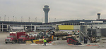 Transportation images; Airport, airplane, construction, infrastructure, images from Chicago's O'Hare Airport, 2017. (DePaul University/Jamie Moncrief)