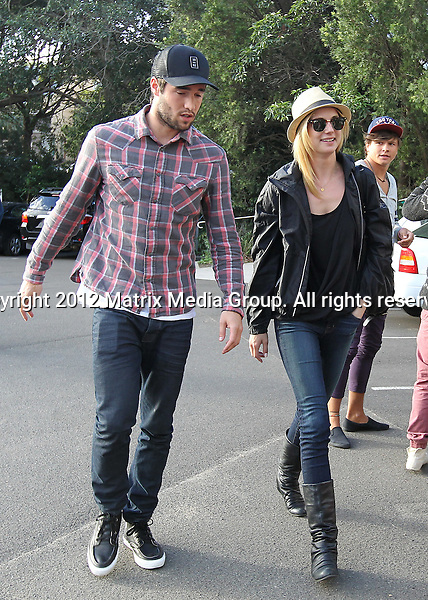 29 April 2012 Sydney, Australia..***NON EXCLUSIVE***..Emily Van Camp and boyfriend / co star Joshua Bowman leave Catalina Restaurant Rose Bay and a driven to the Sydney Cricket Ground where they attended a football match. 29 April 2012 Sydney, Australia..***NON EXCLUSIVE***..Emily Van Camp and boyfriend / co star Joshua Bowman leave Catalina Restaurant Rose Bay and a driven to the Sydney Cricket Ground where they attended a Rugby football match.