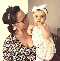 COPY BY TOM BEDFORD<br /> Pictured: Pearl Black (R) with mum Gemma<br /> Re: The funeral of a toddler who died after a parked Range Rover's brakes failed and it hit a garden wall which fell on top of her will be held today at Merthyr Tydfil.<br /> One year old Pearl Melody Black and her eight-month-old brother were taken to hospital after the incident in south Wales.<br /> Pearl's family, father Paul who is The Voice contestant and mum Gemma have said she was &quot;as bright as the stars&quot;.