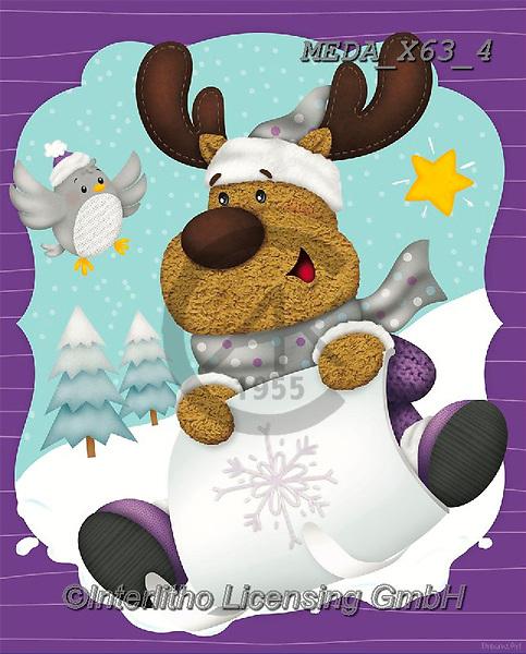 Dreams, CHRISTMAS ANIMALS, WEIHNACHTEN TIERE, NAVIDAD ANIMALES, paintings+++++,MEDAX63/4,#XA#