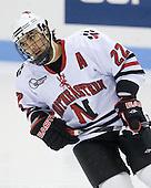 Greg Costa (NU - 22) - The Northeastern University Huskies defeated the Bentley University Falcons 3-2 on Friday, October 16, 2009, at Matthews Arena in Boston, Massachusetts.
