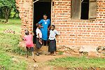 Children at classroom entrance, Bigodi, western Uganda