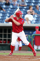 Clearwater Threshers Darin Ruf #35 at bat during a game against the Daytona Cubs at Brighthouse Stadium on June 23, 2011 in Clearwater, Florida.  Clearwater defeated Daytona 6-5.  (Mike Janes/Four Seam Images)